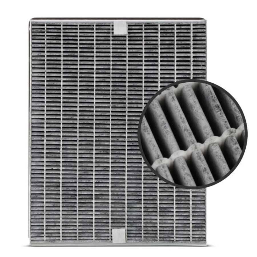 carbon HEPA filter pleated
